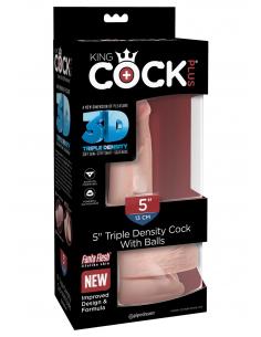 """Gode Triple Densité Toucher Peau 5"""" 13 cm"""