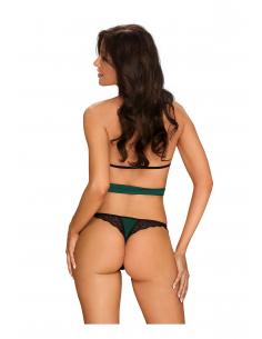 Sensuelia top & string Vert