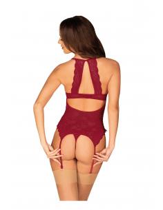 Corset Ivetta & thong red