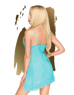 Babydoll et string assorti Bleu After sunset - PH0008BLU
