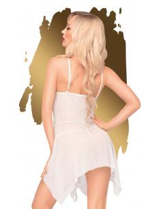 Nuisette et string assorti Blanc Sweet beast - PH0018WHT