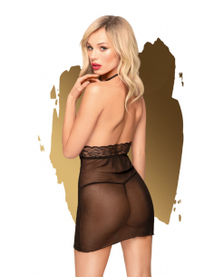 Mini robe et string assorti Noir Sweet & spicy - PH0005BLK