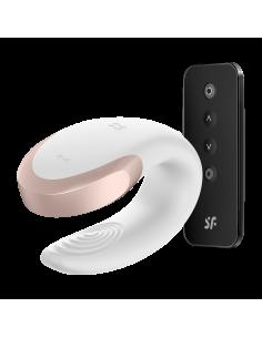 Double Love Luxury Partner Vibrator - Blanc