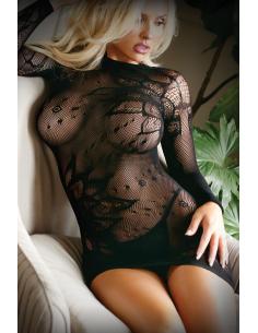 Mini robe en maille avec string - Noir