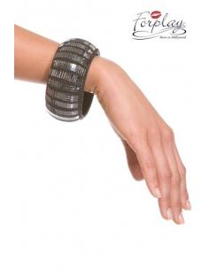 Bracelet disco effet acier