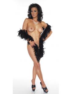 Boa noir en plume-Rimba-06.Prêt à porter