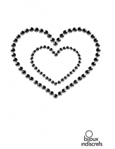 Mimi Heart - Bijoux de Peau - Coeurs NOIR-Bijoux indiscrets-07.Lingerie