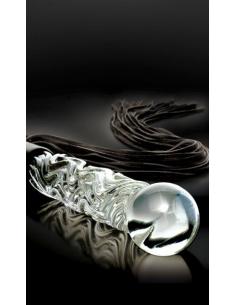 Gode fouet en verre Icicles No. 38 - 65 cm