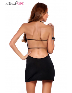 Robe courte sexy noir BB522-Bomb Girl-06.Prêt à porter