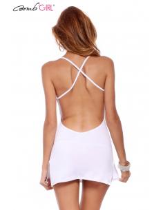 Robe sexy ajouré blanche BB530-Bomb Girl-06.Prêt à porter