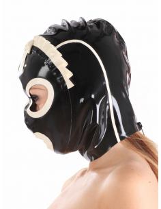 Cagoule serveuse latex noir et blanc-Honour-11.Sex-toys
