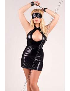 Robe sexy M/1026 4663 noir-Andalea-02.Lingerie sexy