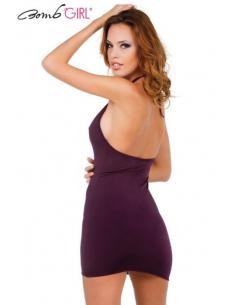 Robe Vertigineuse Aubergine Be Woman-Bomb Girl-06.Prêt à porter