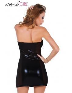 Robe tube Kaiser Wet Look Noir-Bomb Girl-06.Prêt à porter