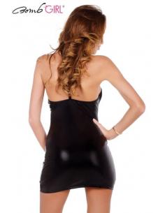 Robe tube Ibuki Wet Look Noir-Bomb Girl-06.Prêt à porter