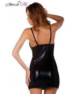 Robe Izuma Wet Look Noir-Bomb Girl-06.Prêt à porter