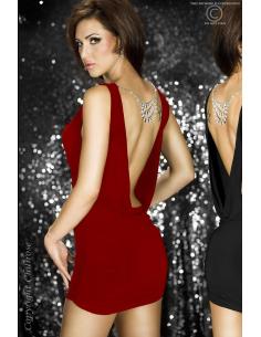 Robe strass avec parure bijoux bordeaux-Chilirose-06.Prêt à porter