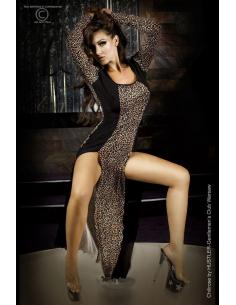 Robe longue léopard orange-Chilirose-06.Prêt à porter
