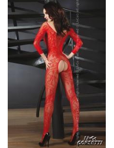 Abra combinaison résille rouge-Livco-02.Lingerie sexy