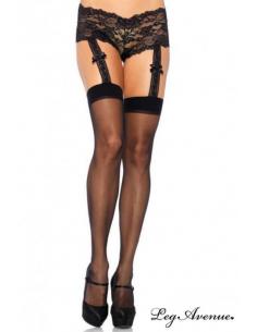 Collant jarretelles noir-Leg Avenue-02.Bas et collant sexy