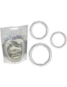 Pack 3 anneaux en métal Ø interne 3,3 mn - 4 mn - 5,3 mn-Spoody toys-11.Sex-toys