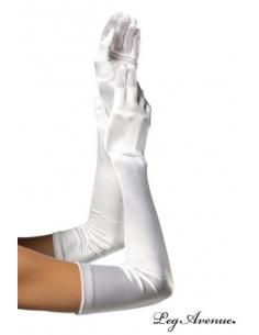 Gants Extra Longs satin Blanc-Leg Avenue-06.Prêt à porter