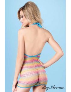 Robe résille colorée Multicolore Ref : 8714