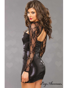 Robe sequin manches longues