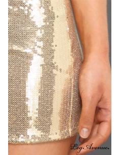 Robe de soirée sequin doré