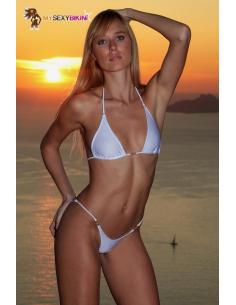 Maillot de bain brazil Blanc lycra satiné-Mysexybikini-06.Prêt à porter