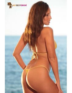 Maillot de bain string Palm Beach Or en Tulle-Mysexybikini-06.Prêt à porter