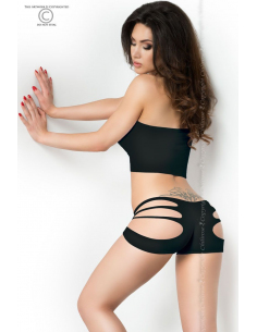 Top + Shorts noir