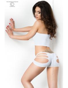 Top + Shorts blanc