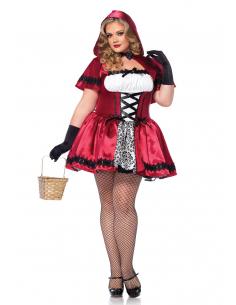 Costume Petit Chaperon Rouge Satin Grande Taille