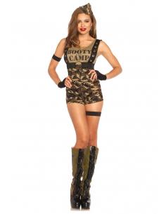 Costume Combi-Short Femme Militaire