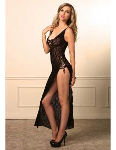 Robe longue lingerie florale - LEG AVENUE
