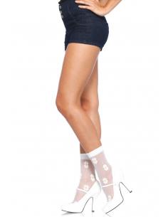 Chaussettes florales - LEG AVENUE