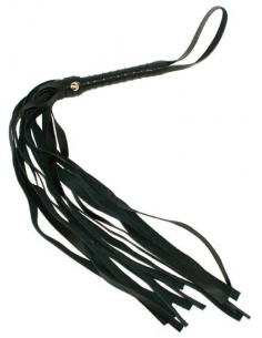 Fouet noir en PVC 45 cm