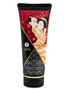 Creme de Massage delectable - Vin pétillant à la fraise - 200 ml Shunga - 1