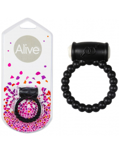 Anneau vibrant Power Ring Balls noir Alive Sextoys - 1