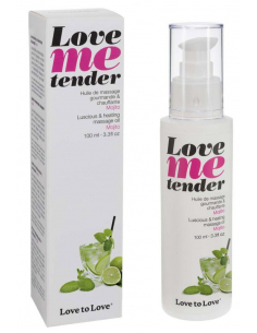 Huile de massage Love Me tender parfum Mojito - 100 ml Love To Love - 1