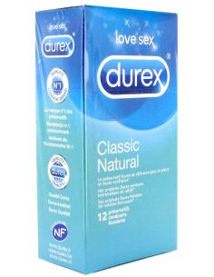 12 X Préservatifs lubrifiés Classic natural