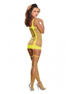 Combinaison sans manches Capri Dreamgirl jaune fluo