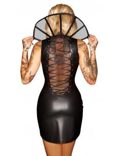Wetlook Dress with Collar